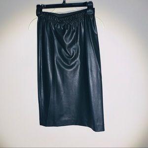 BCBG MAXAZRIA leather midi skirt NWT